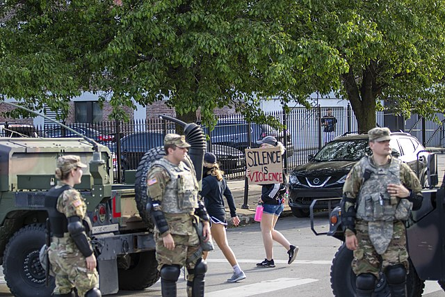 640px Nebraska Army National Guard in Omaha during the George Floyd protests June 2 2020